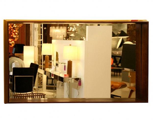 milo baughman mirror, circa 1950's by milo baughman