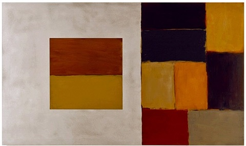 outside in (yellow) by sean scully