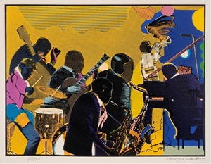 out chorus by romare bearden