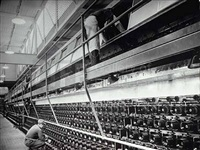 spinning machines at the industrial rayon corp factory by margaret bourke-white