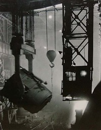 200-ton ladle at work by margaret bourke-white