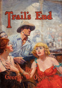 trail's end, book illustration, 1921 by percy v.e. ivory