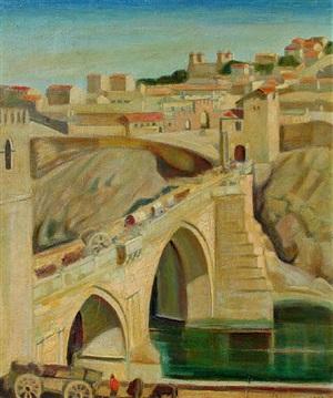 view of toledo, spain by joseph amadeus fleck