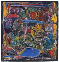 landscape with sunset by david driskell