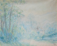 landscape with house by claude emile schuffenecker