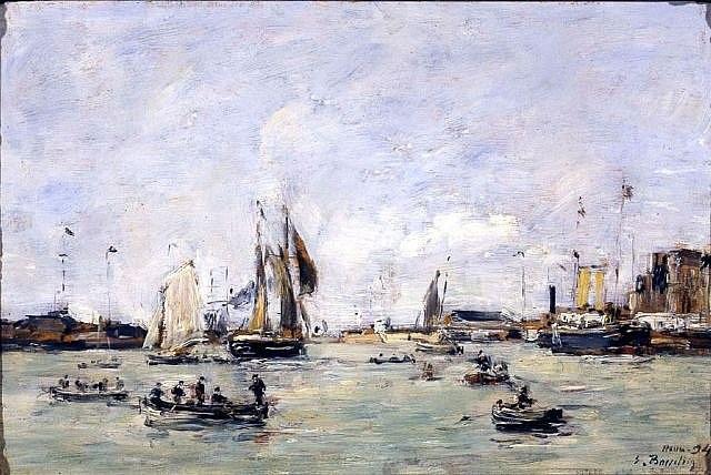 le port du havre by eugène boudin