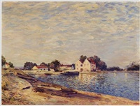 saint-mammes les bords du loing by alfred sisley