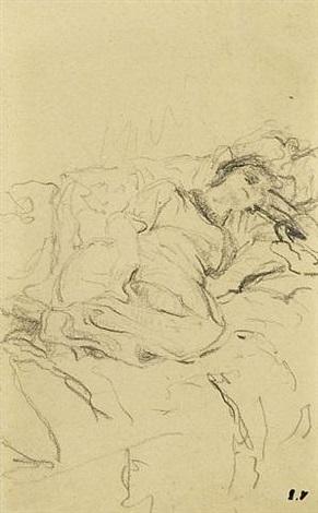lucie hessel allongée by edouard vuillard