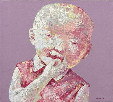 child's face n° 8 by guo jin