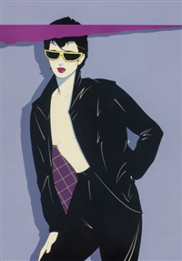 sunglasses and leather by patrick nagel