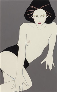 playboy after hours illustration, august 1980 by patrick nagel