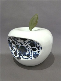 apple- china (blue) by li lihong