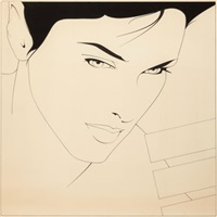 invitation, 1980 pen and by patrick nagel