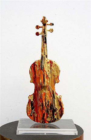 untitled - painted violin by arman