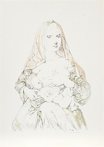 nursing mother by léonard tsuguharu foujita