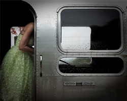 untitled, from the series green dress by heidi lender