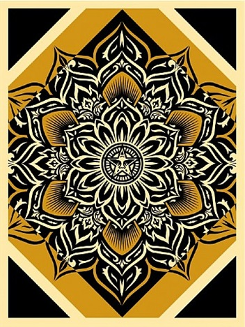 lotus diamond (gold) by shepard fairey