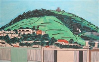 mount davidson seen from upstairs studio by joan brown