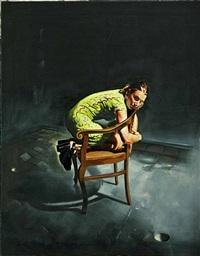mädchen im grünen kleid / girl in a green garment by rocco hettwer