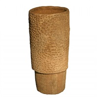 cylindrical earthenware vessel by stan bitters
