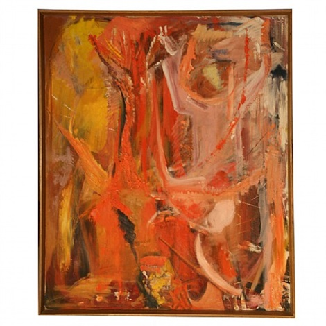 bay area abstract expressionist painting by richard gentry ayer