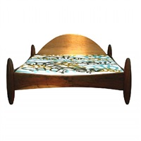 solid jacaranda king size bed by sergio rodrigues