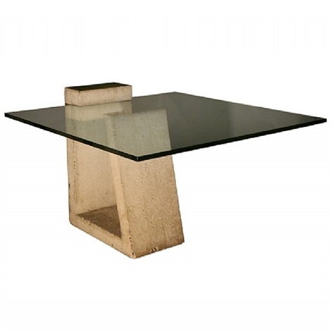 A Rare Concrete And Glass Dining Table By Alwy Visschedyk On Artnet - Concrete and glass coffee table