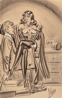 Remarkable, rather erotic comic artists 1970 s work