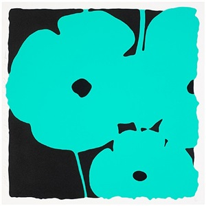 poppies, (june 3, 2011, aqua) by donald sultan