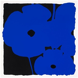 poppies, (june 3, 2011, blue) by donald sultan