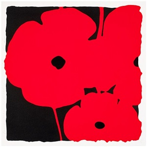 poppies, (june 3, 2011, red) by donald sultan