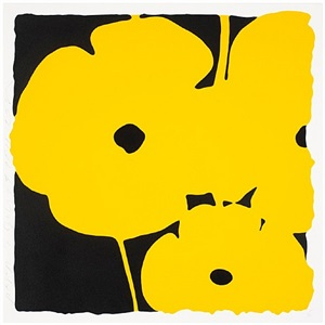 poppies, (june 3, 2011, yellow) by donald sultan