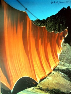 valley cortain rifle colorado by christo and jeanne-claude