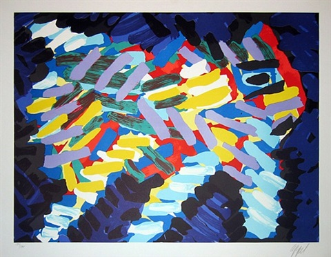 series of 10 lithographs by karel appel