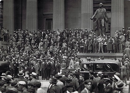 wall street, stock market crash by wide world photos