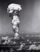 atom bomb, bikini atoll by army navy task force photo