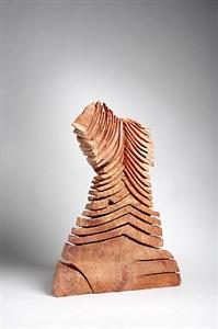 david nash black red, bronze wood by david nash