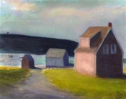 monhegan island color study by robert dente