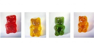 gummy bears (portfolio of 4) by vik muniz