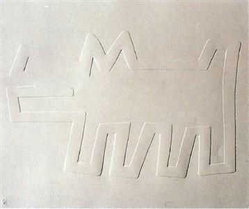 barking dog (aus dem portfolio white icons) by keith haring