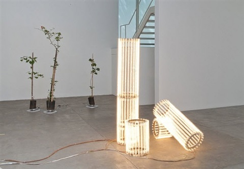 exhibition view by cerith wyn evans