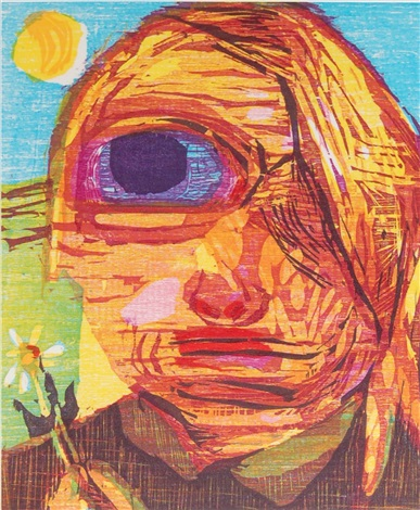 untitled one eyed girl by dana schutz