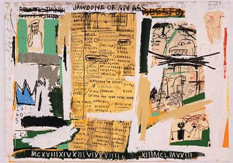 jawbone of an ass by jean-michel basquiat