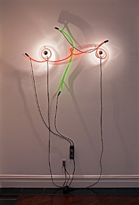 neon wrapping incandescent by keith sonnier