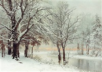 a winter's eve by anders andersen-lundby