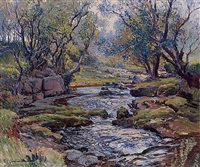 yorkshire beck, ramsgill by samuel john lamorna birch