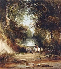 a path through the woods by henry john boddington