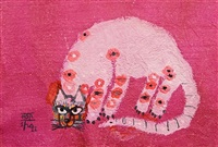 pink cat by dang xuan hoa