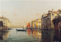 the grand canal, venice by antoine bouvard