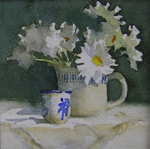 still life with sake cup by barbara maiser